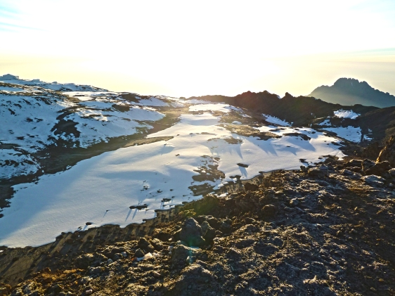 Dawn breaking over the summit during our trek up Mt. Kilimanjaro - July 2012